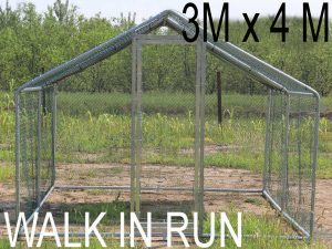 3m x 4m walk in run