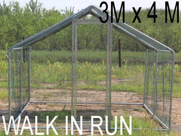 3m x 4m walk in run