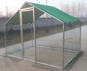 A Walk In Run for Poultry, Dog, Rabbit Free Fabric Roof Cover