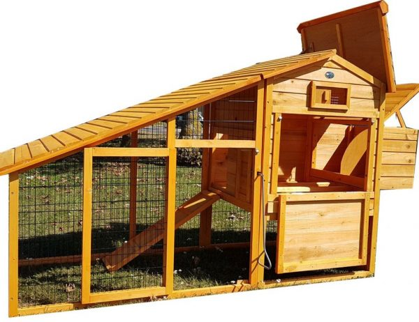 Granary Chicken Coop with Apex Wooden Run Roof