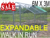Large Walk In Run for Poultry, Dogs and Rabbits Free Fabric Roof Cover
