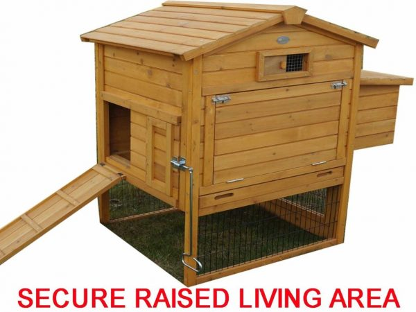 The Granary Chicken Coop with Wire Fencing product