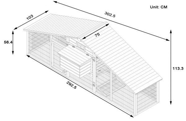 XXL Granary 10FT Chicken Coop dimensions