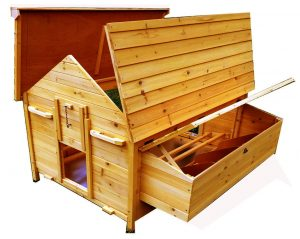 Fox Resistant Chicken House Now With Opening Roofs For Easy Cleaning & Access