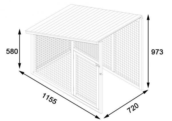 wooden chicken run extension dimensions