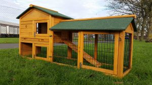 Smokey XL Natural - Fox Resistant Large Rabbit Hutch 6TF long & coated 3mm wire