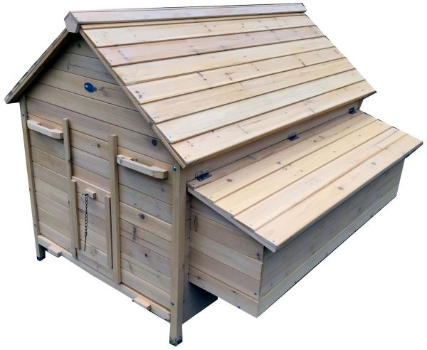 Nelly Air - Fox Resistant Chicken House With Removable Tray - Now With Opening Roofs For Easy Cleaning & Access
