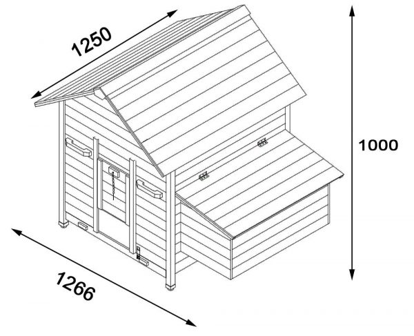 Gertrude Air - Fox Resistant Chicken House Now With Opening Roofs For Easy Cleaning & Access