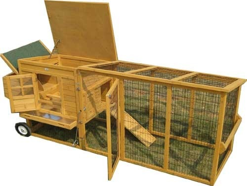 Windsor - XXL 8ft Large Fox Resitsant Chicken Coops with Welded 3mm Wire