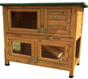 rabbit hutch two tier white background