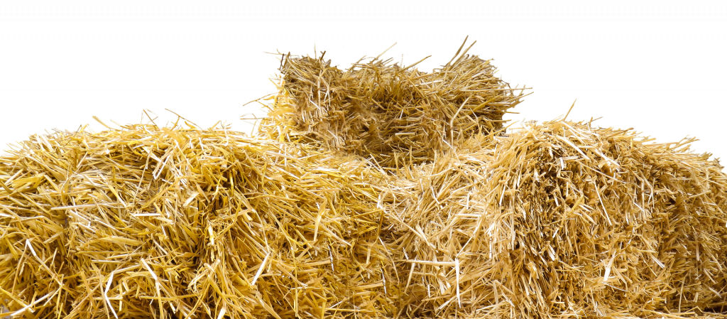 a pile of straw