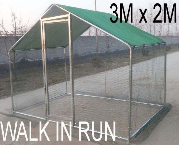 3Mx2M Walk in Run for Poultry Dog live dimensions