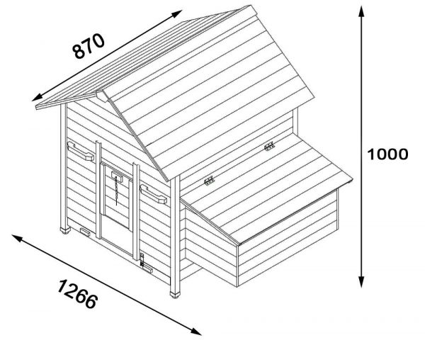 Betty Air Portable - Fox Resistant Chicken House dimensions