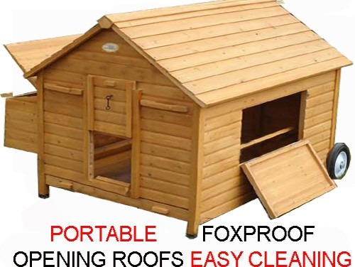Gertrude Air Portable - Fox Resistant Chicken House advertising