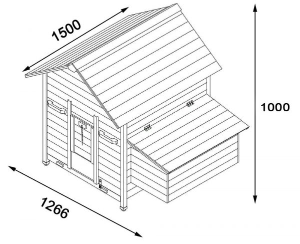 Nelly Air Portable - Fox Resistant Chicken House dimensions