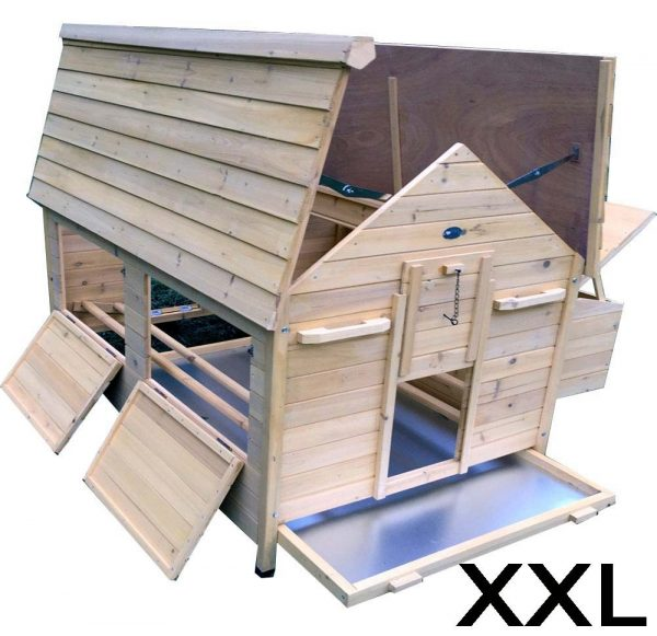 Nelly Air Portable - Fox Resistant Chicken House xxl grey