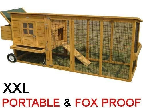 Windsor Portable - XXL 8ft Large Fox Resistant Chicken Coop foxproof