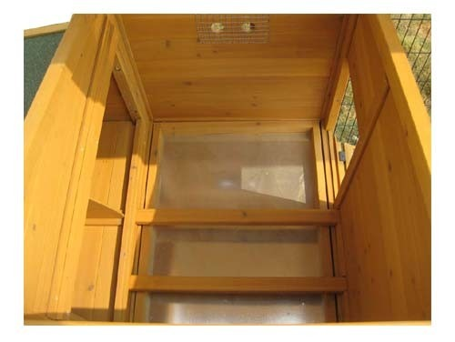 Windsor Portable - XXL 8ft Large Fox Resistant Chicken Coop second interior